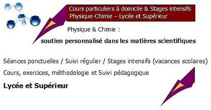 cours chimie Saint-Malo, cours chimie Dinan, cours particuliers Dinan